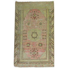 Pink Antique Khotan Rug