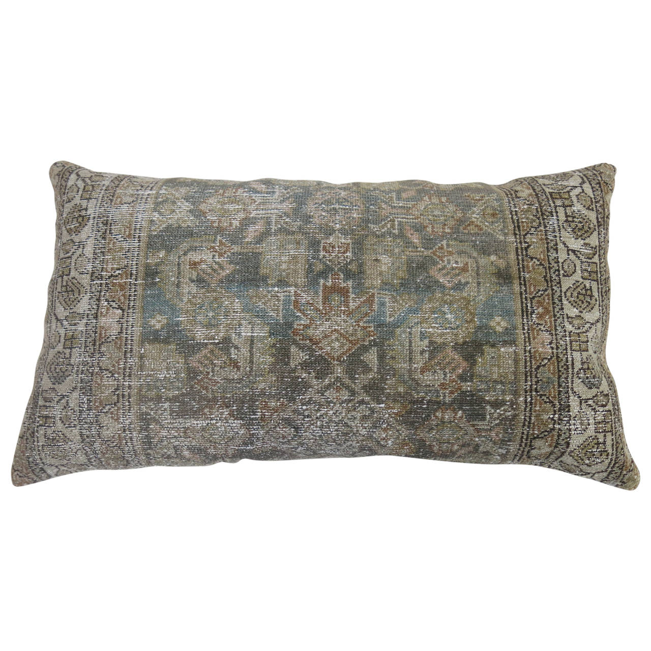 Malayer Rug Floor Pillow with Herati Design For Sale at 1stdibs