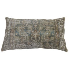 Malayer Rug Floor Pillow with Herati Design