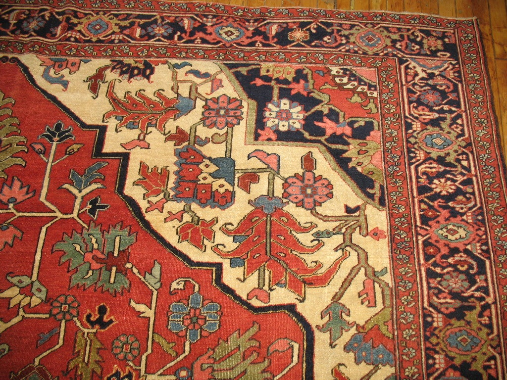 antique persian heriz serapi rug 2