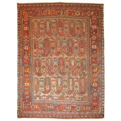 Antique Shiraz Khamseh Rug