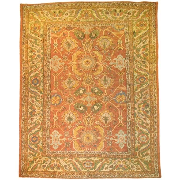 Antique Persian Mahal Sultanabad Rug At 1stdibs