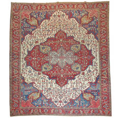 19th Century Antique Persian Serapi Rug