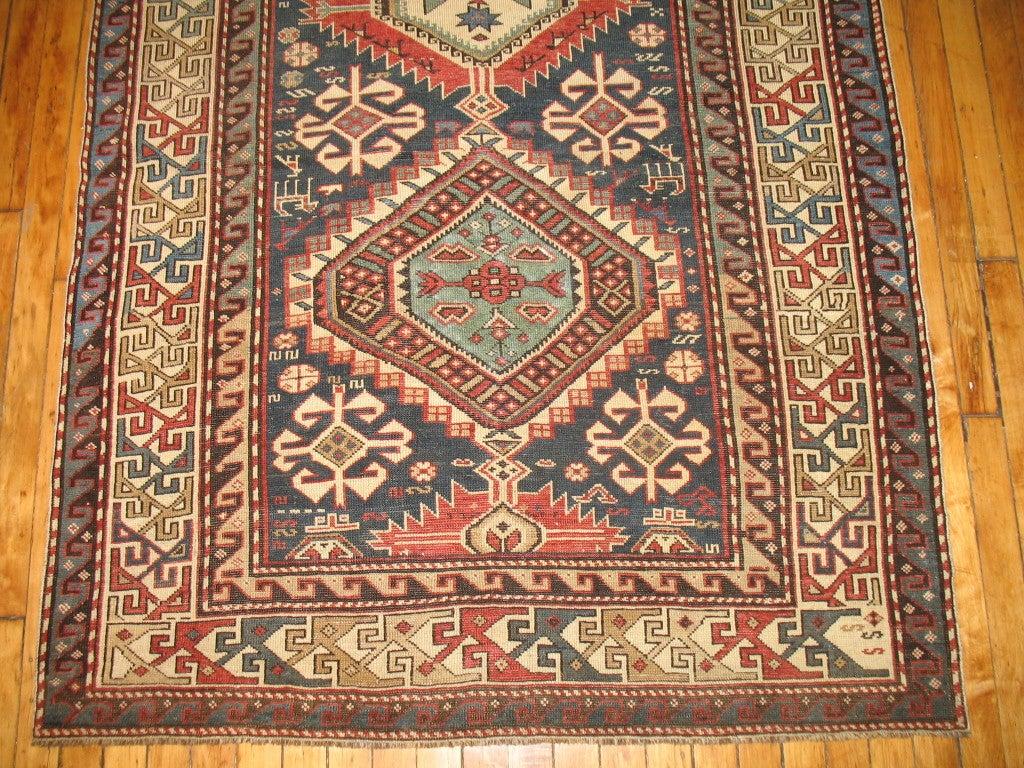Antique Caucasian Kazak Rug At 1stdibs