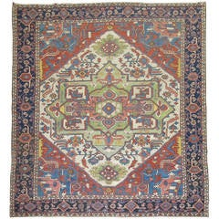 Antique Serapi Heriz Carpet, circa 1900