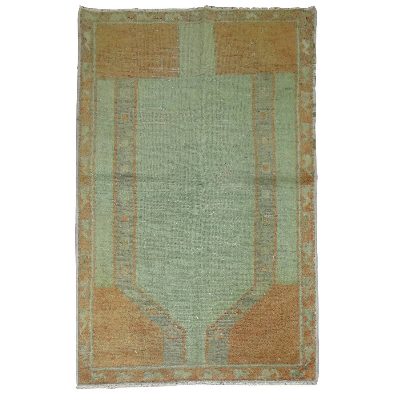 Beautiful Mid Century Modern Turkish Rug 1