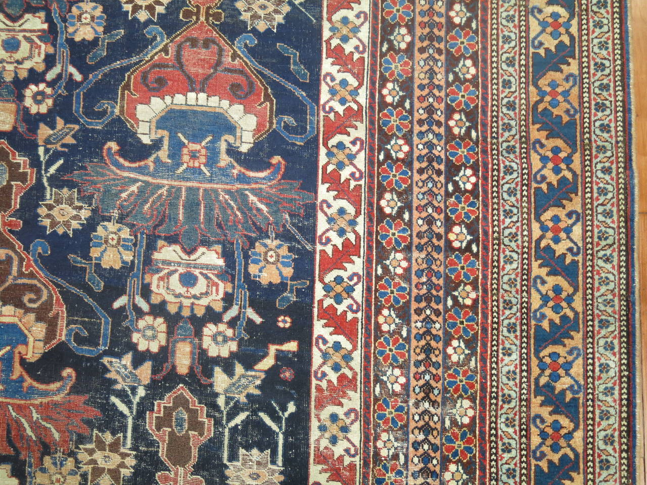Antique Persian Afshar Oversize Rug 6