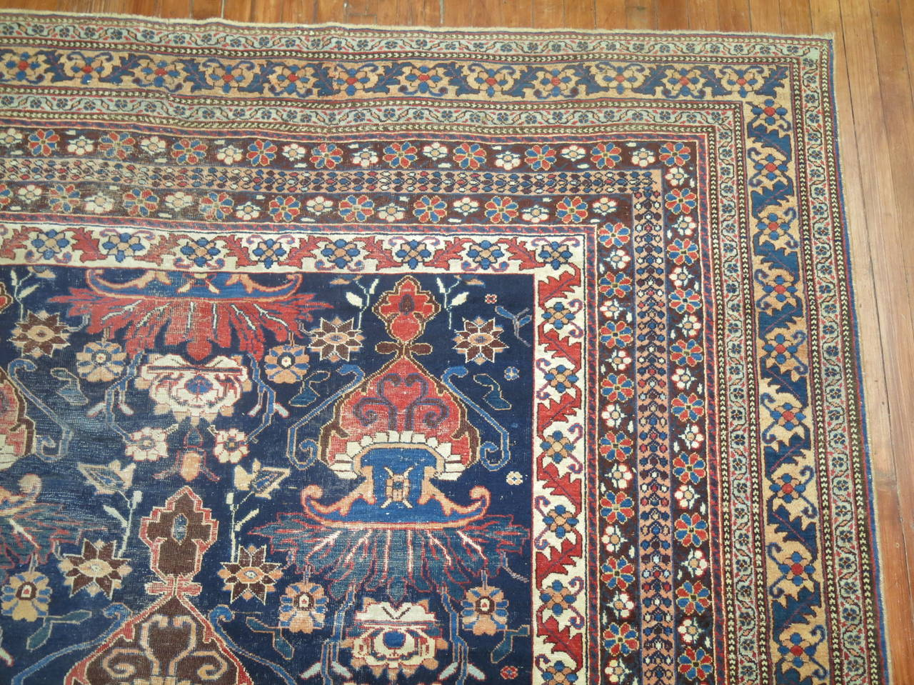 Antique Persian Afshar Oversize Rug 5