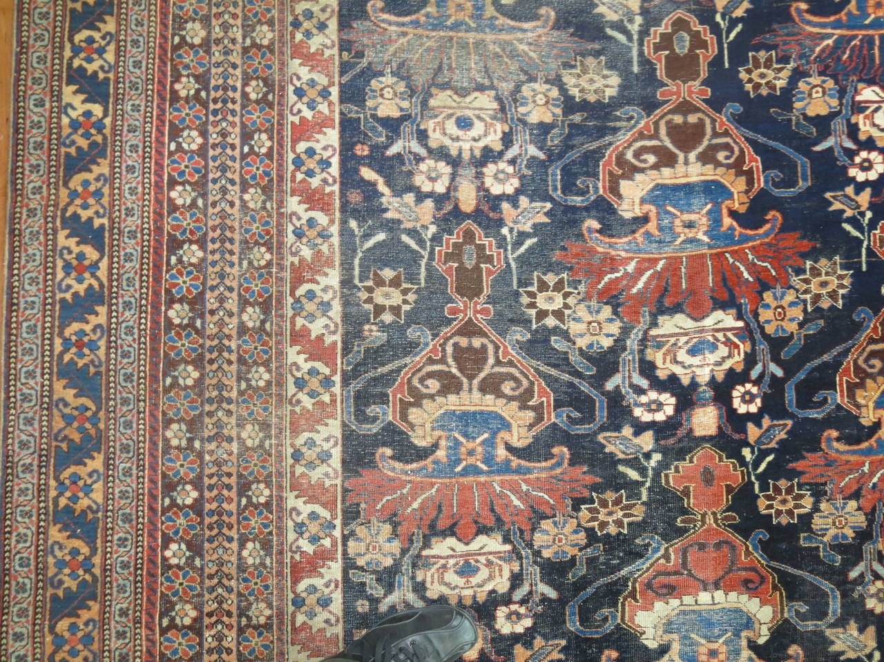 Antique Persian Afshar Oversize Rug 4