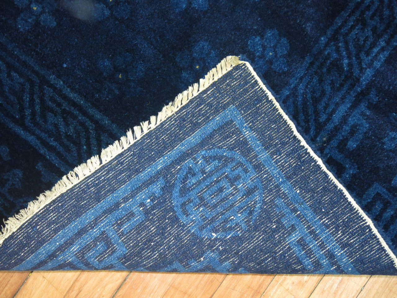 Chinese Peking Cobalt Blue Carpet At 1stdibs