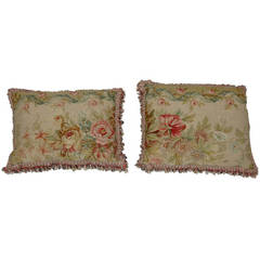 Set of 18th Century French Aubusson Pillows