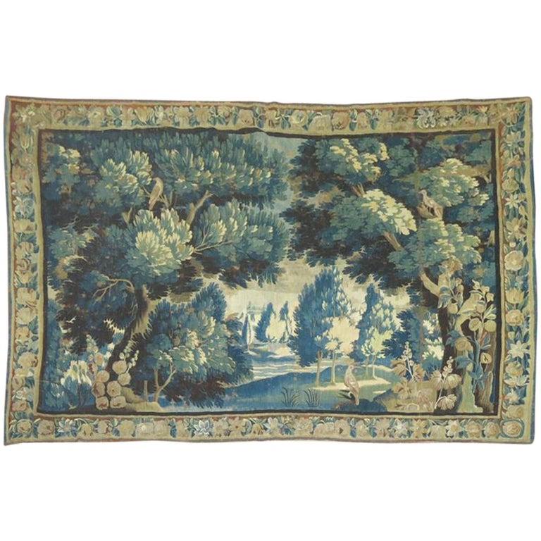 18th Century Flemish Verdure Tapestry For Sale