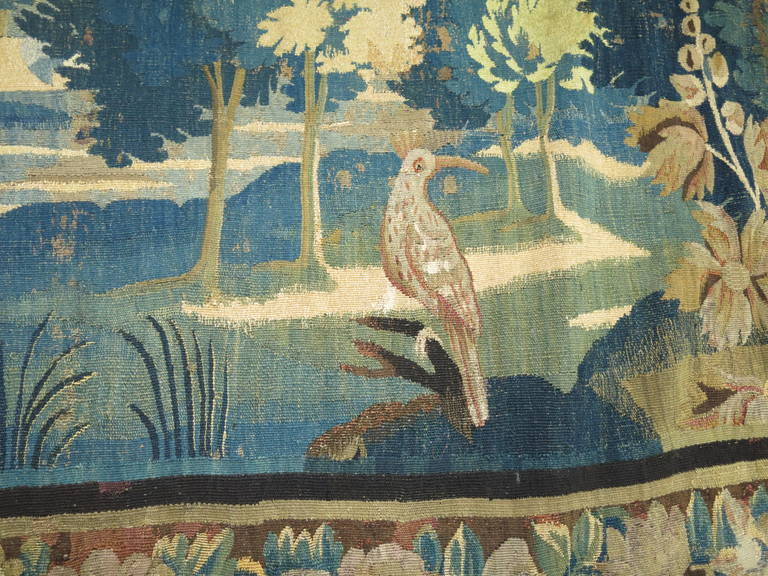 18th Century Flemish Verdure Tapestry For Sale 1