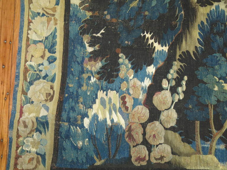 18th Century Flemish Verdure Tapestry For Sale 2