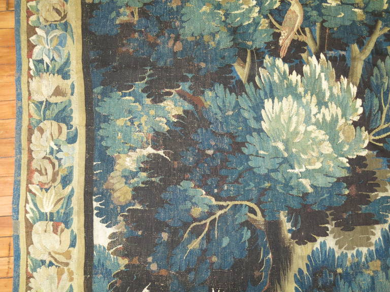 British Colonial 18th Century Flemish Verdure Tapestry For Sale