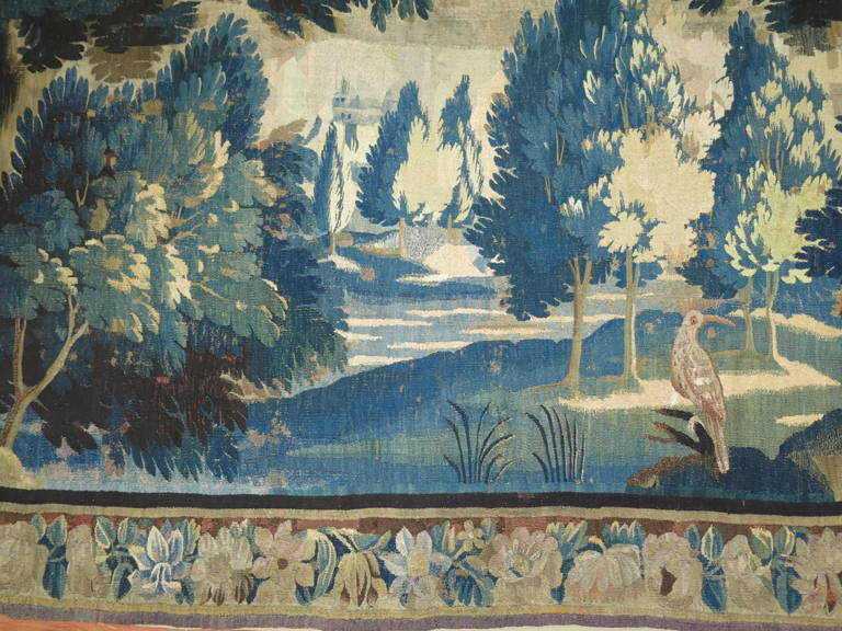 18th Century Flemish Verdure Tapestry In Good Condition For Sale In New York, NY