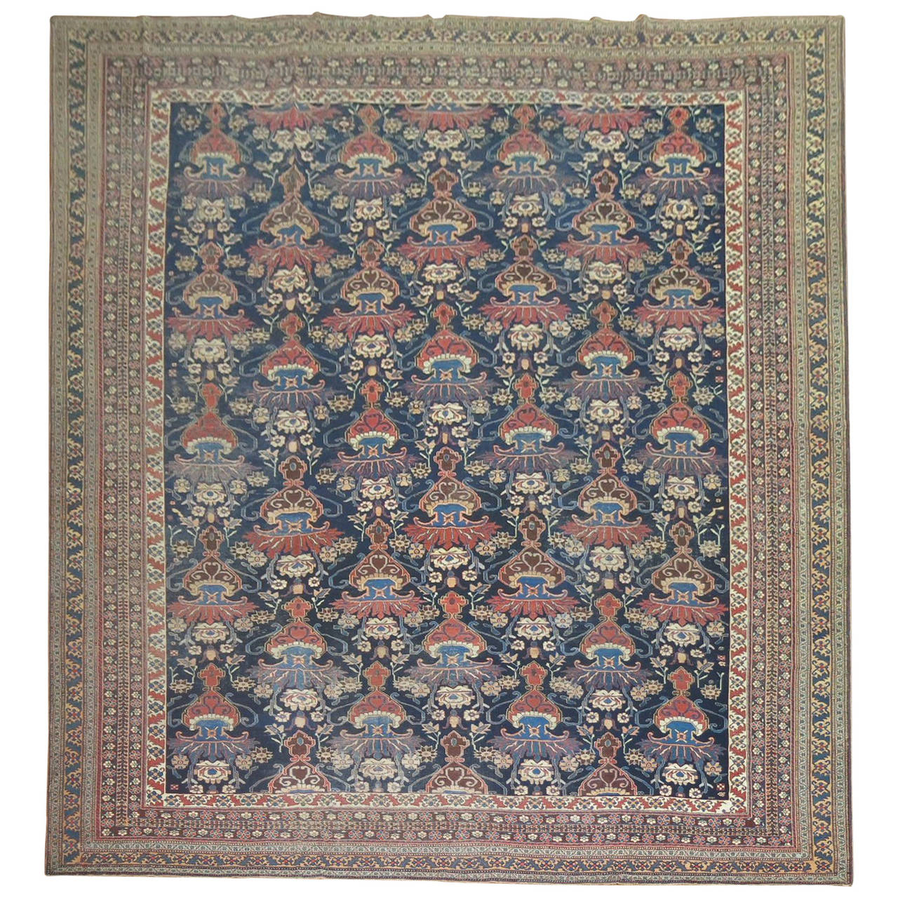 Antique Persian Afshar Oversize Rug 1