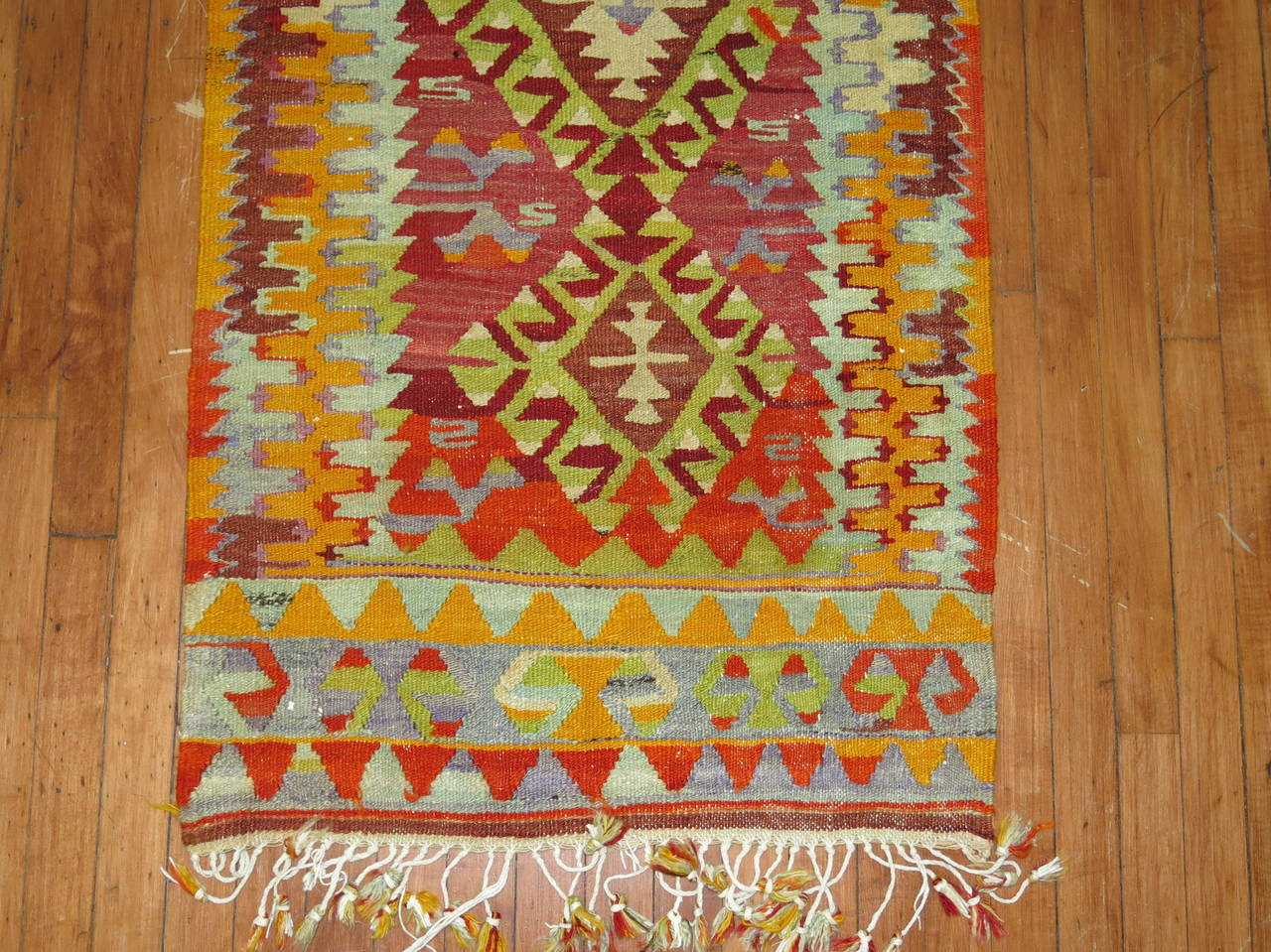 Narrow Kilim Runner in Bright Colors 2