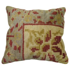 Large Floral Anatolian Rug Pillow