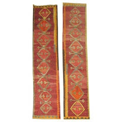 Set of Kilim Runners Woven in Turkey