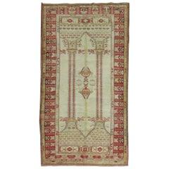 Antique Rug with Scroll Motif