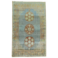 Blue Antique Khotan Rug
