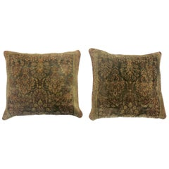 Silk and Wool Antique Persian Pillows