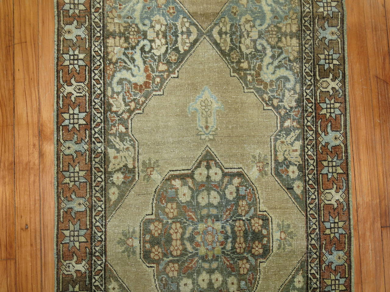 Wool Narrow Runner from Tabriz For Sale