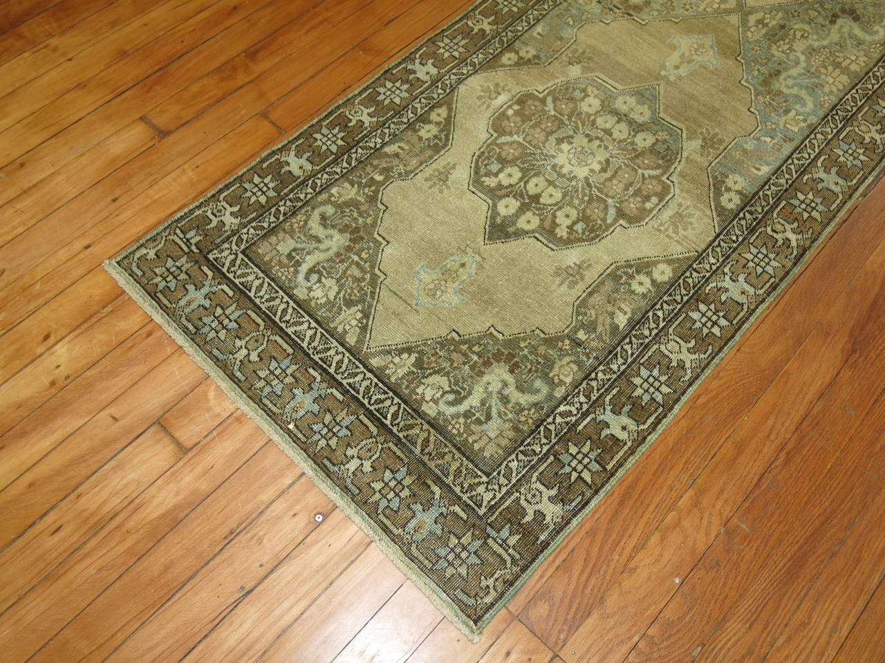 20th Century Narrow Runner from Tabriz For Sale