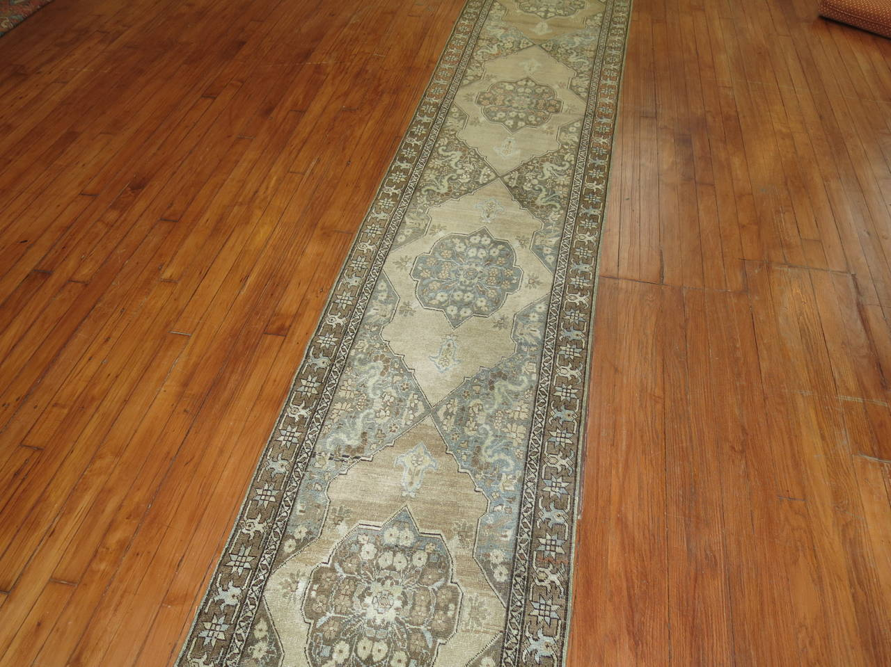 Narrow Runner from Tabriz In Excellent Condition For Sale In New York, NY