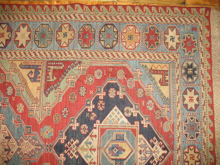 Antique Persian Soumak Flatweave 2