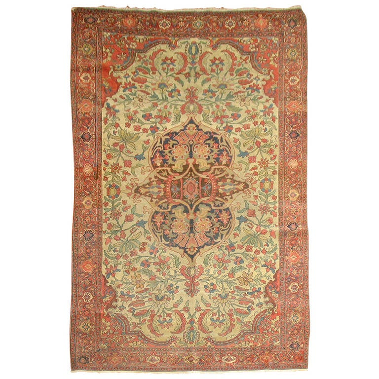 Persian Rugs For Sale: Antique Persian Sarouk Farahan Rug For Sale At 1stdibs