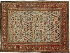 Turquoise Antique Persian Ferehan Rug