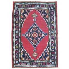 Jewel Toned Antique Persian Senneh Kilim