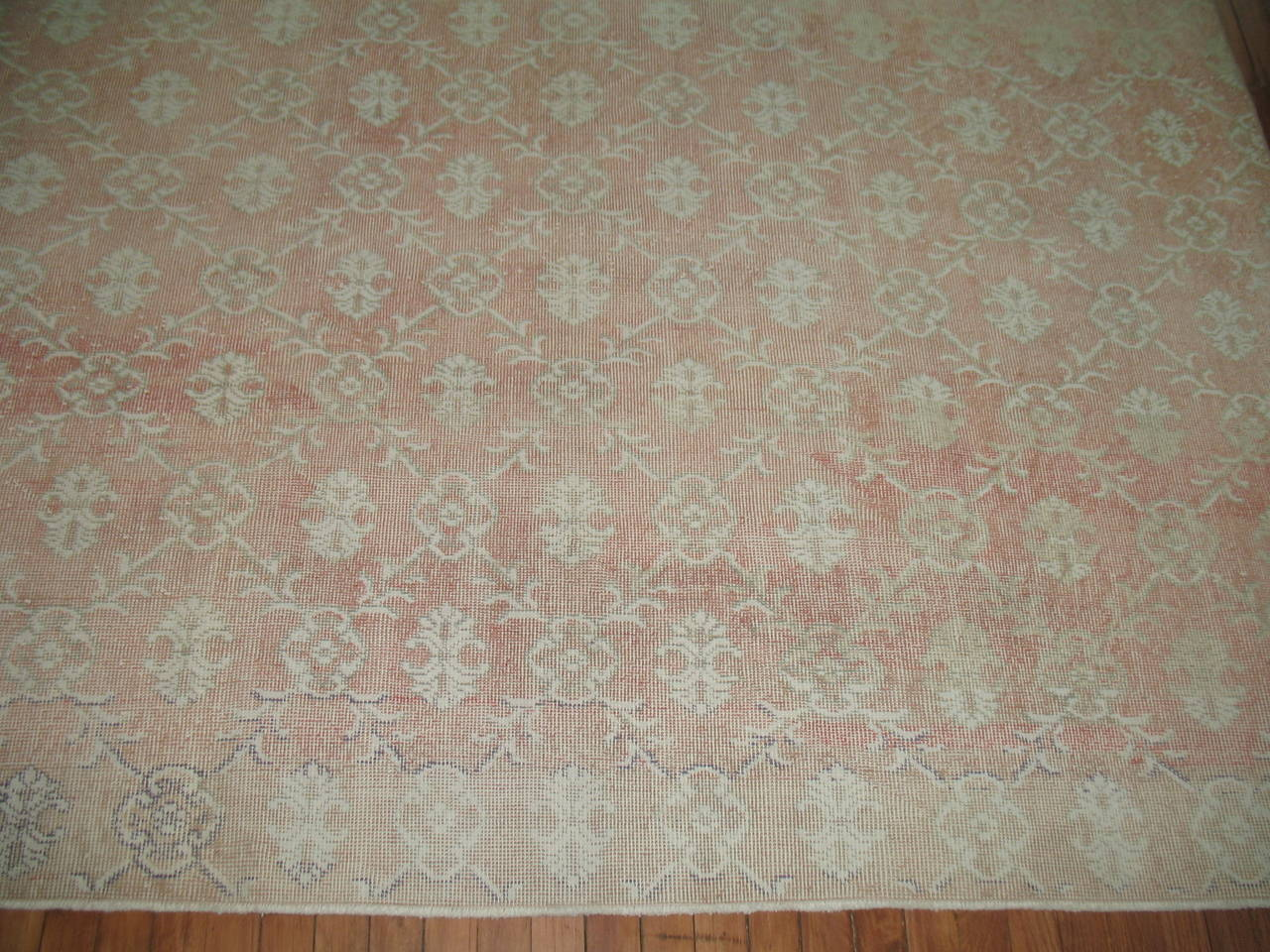Shabby Chic Vintage Turkish Rug At 1stdibs