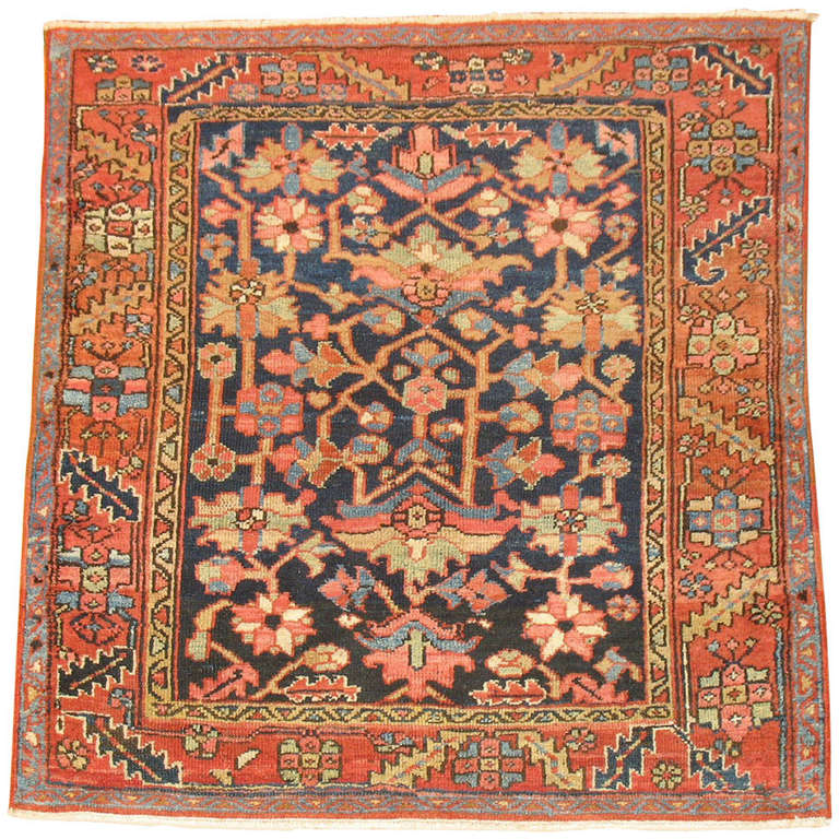 Antique Persian Heriz Rug At 1stdibs