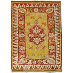 Bright Yellow Turkish Melas Rug