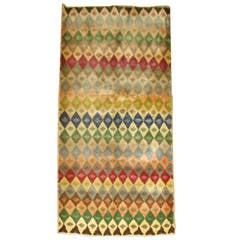 Vintage Turkish Geometric Anatolian Rug
