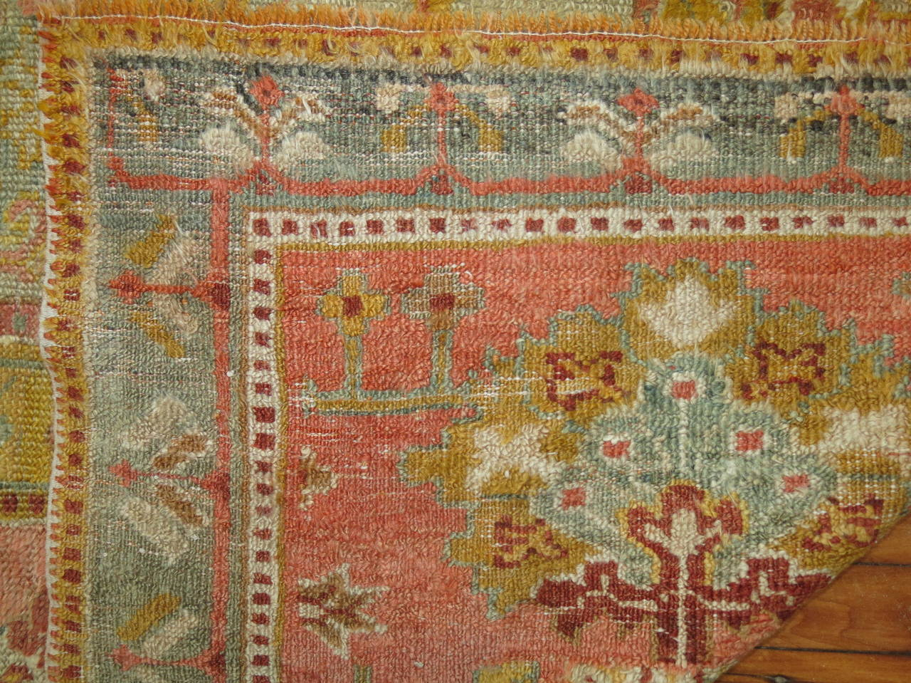 Antique Turkish Angora Oushak Rug At 1stdibs