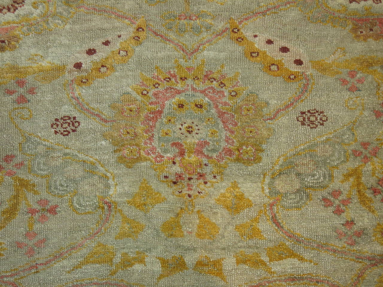 Antique Turkish Angora Oushak Rug At 1stdibs