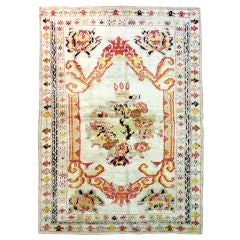 Antique Turkish Angora Oushak Rug For Sale At 1stdibs