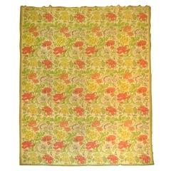 Oversize Handwoven Antique Needlepoint Carpet