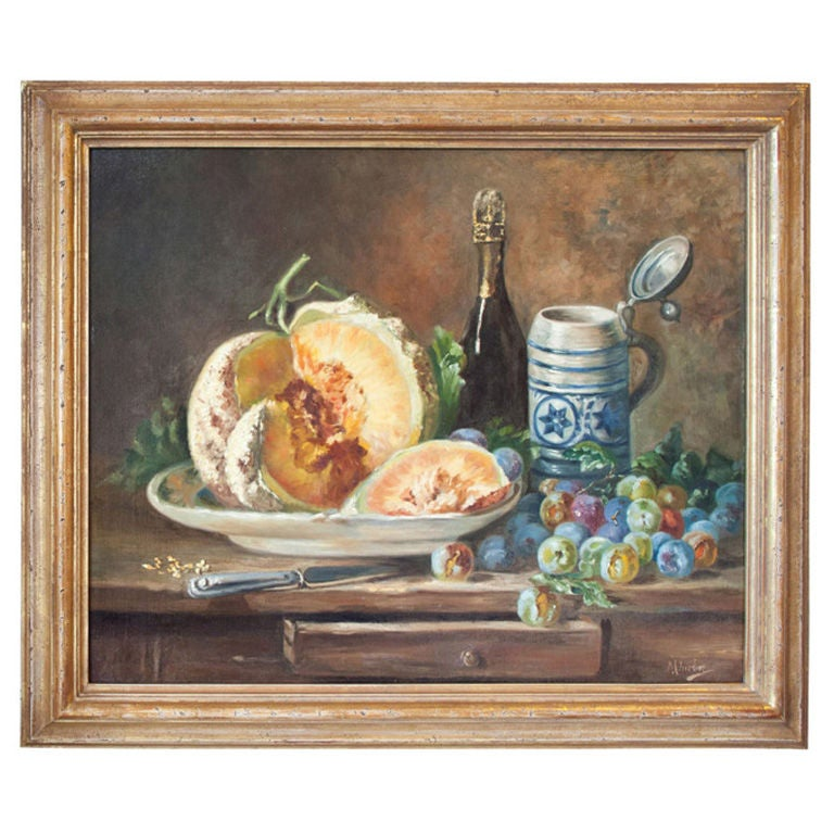 19th Century French Oil Still Life Painting