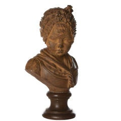 French Louis XVI Style Terracotta Bust