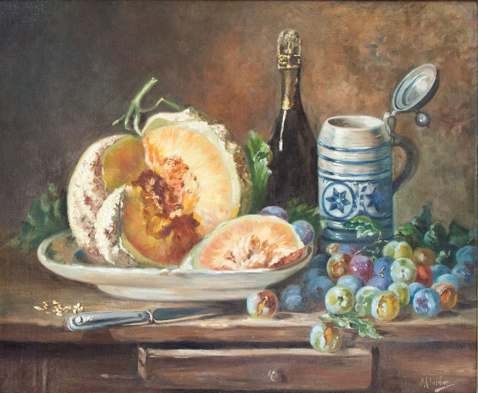 19th Century French Oil Still Life Painting image 2