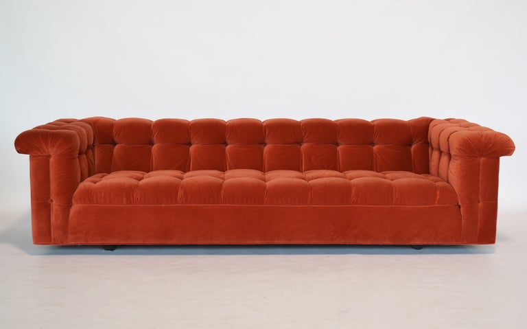 Edward Wormley model 5407 sofa by Dunbar in Jack Lenor Larsen 2