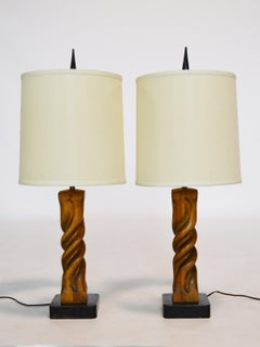 Pair of Heifetz Sculptural Table Lamps