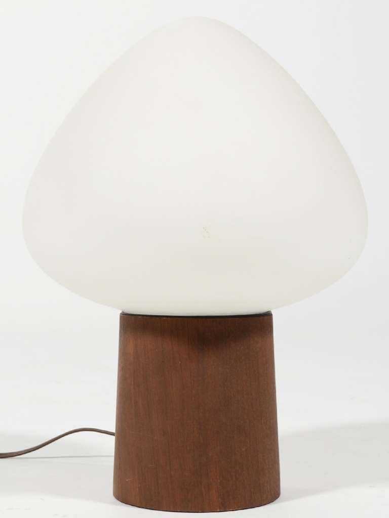 Laurel Mushroom Table Lamp with Walnut Base 2