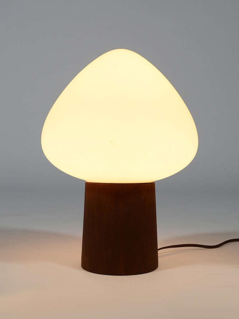 Laurel Mushroom Table Lamp with Walnut Base 4