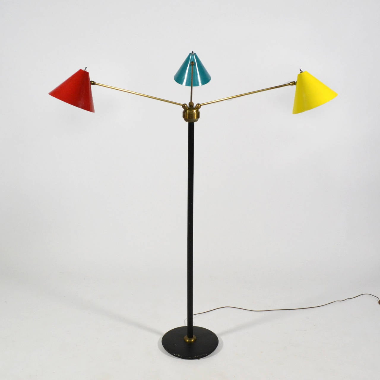 Mid-Century Modern Italian Three-Arm Floor Lamp For Sale